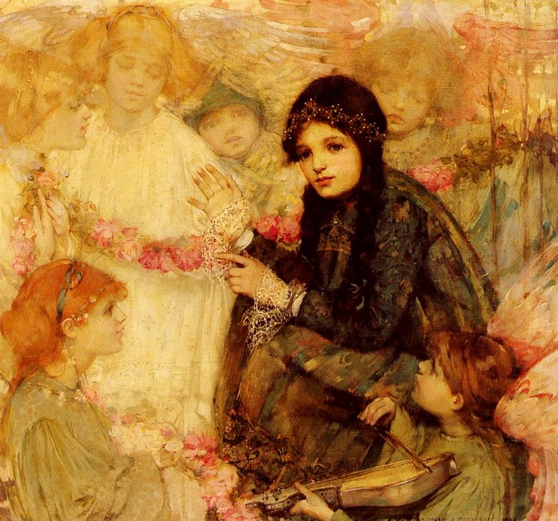And The Angels Were Her Playmates :: Christabel A. Cockerell - Children's portrait in art and painting ôîòî