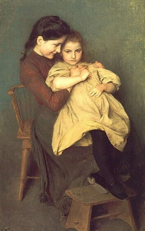 Chagrin d'Enfant :: Emile Friant - Children's portrait in art and painting фото