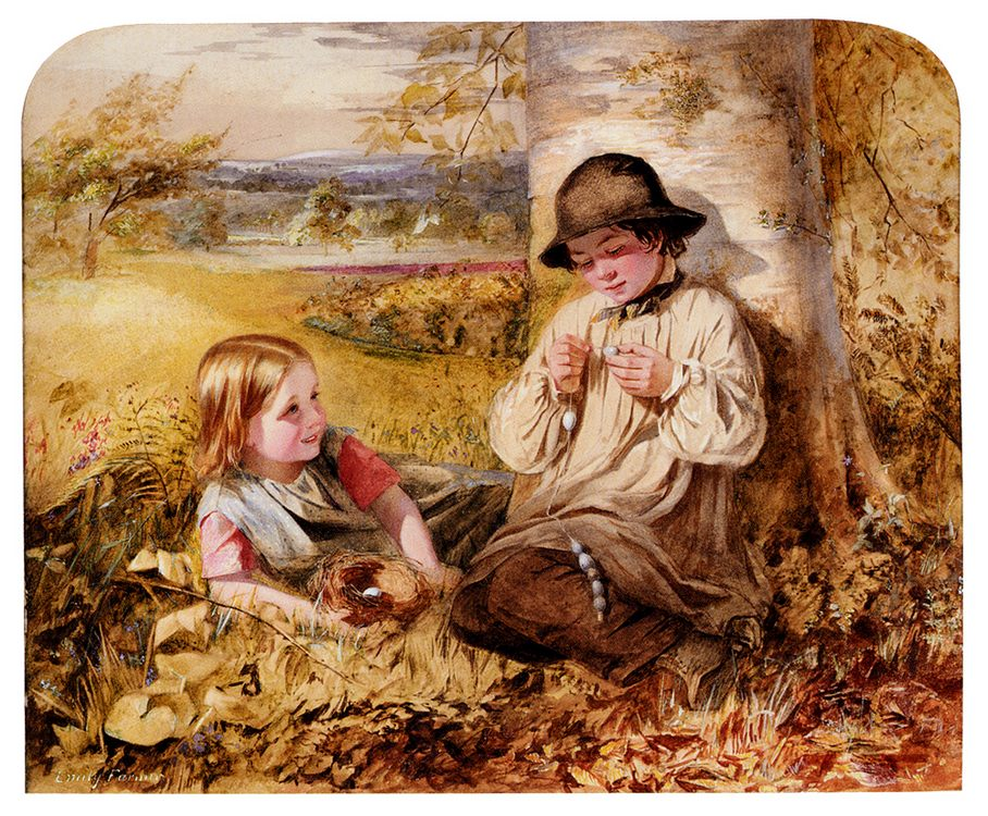 The Necklace-Maker :: Emily Farmer - Children's portrait in art and painting ôîòî