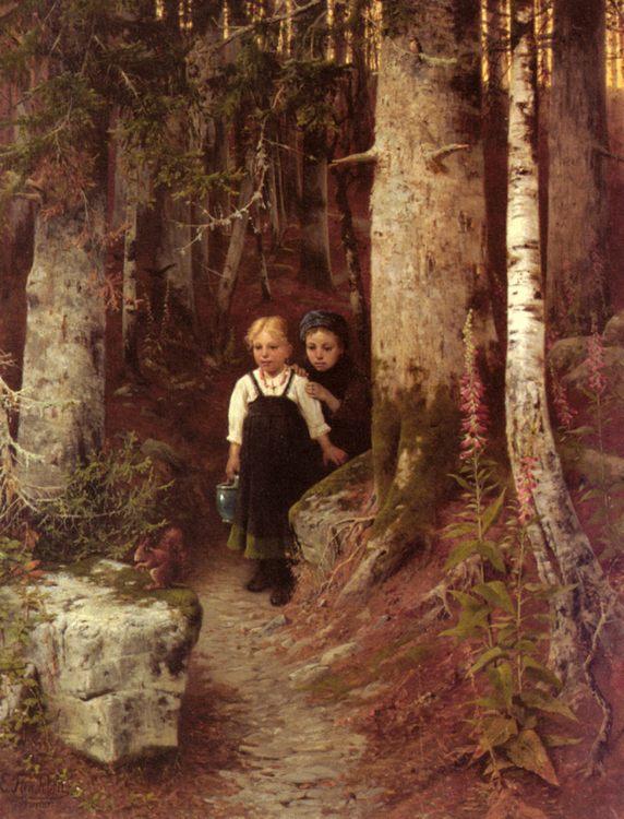 The Little Squirrel :: Ernst Freiesleben - Children's portrait in art and painting ôîòî