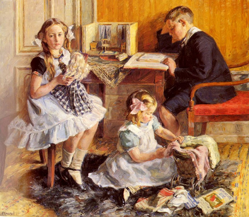 Childrens Pastimes :: Gad Frederik Clement - Children's portrait in art and painting ôîòî