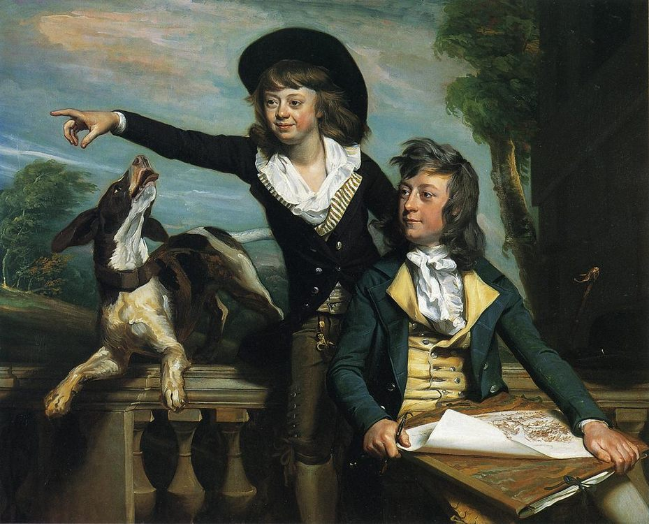 Charles Callis Western and His Brother Shirley Western :: John Singleton Copley - Children's portrait in art and painting фото