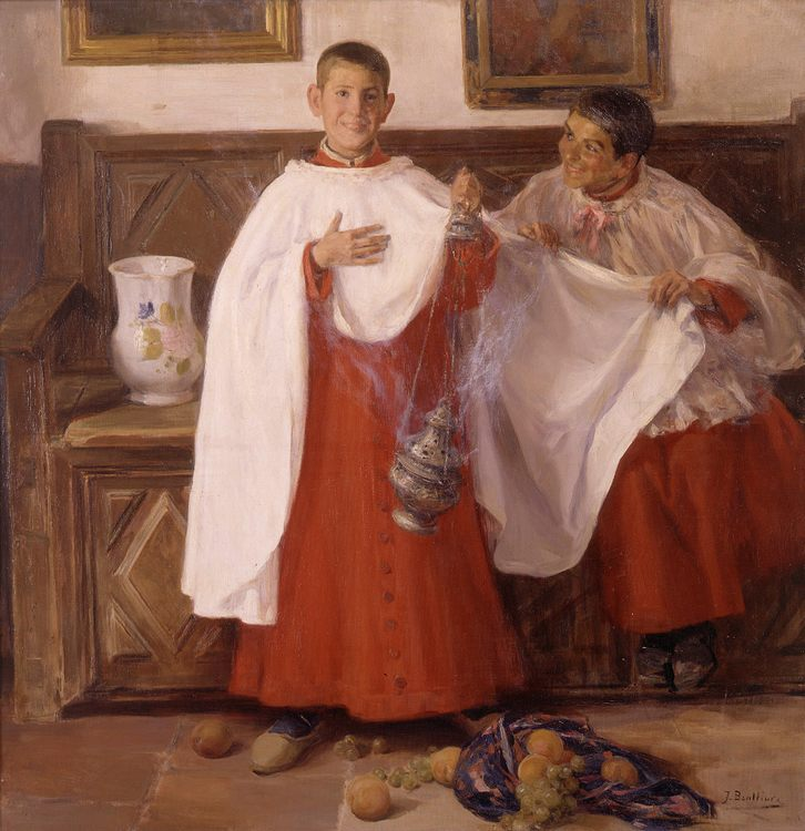 Altar Boys :: Jose Benlliure y Gil - Children's portrait in art and painting фото
