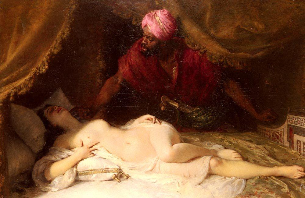 Othello And Desdemona :: Adolphe Weisz - nu art in mythology painting ôîòî
