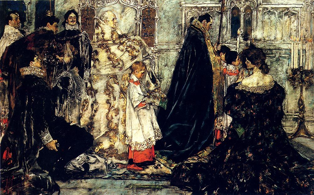 A Medieval Christmas--The Procession :: Albert B. Wenzell - New фото
