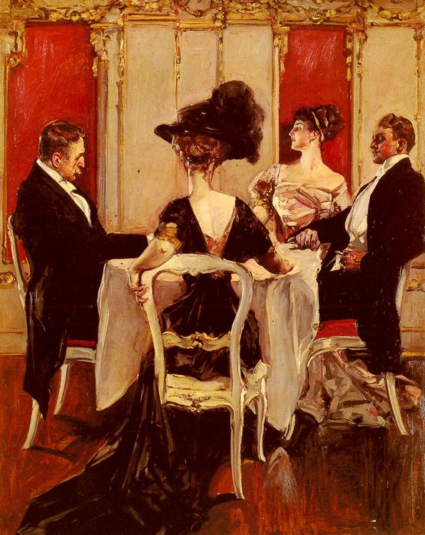 Idle Conversation :: Albert B. Wenzell - Romantic scenes in art and painting ôîòî