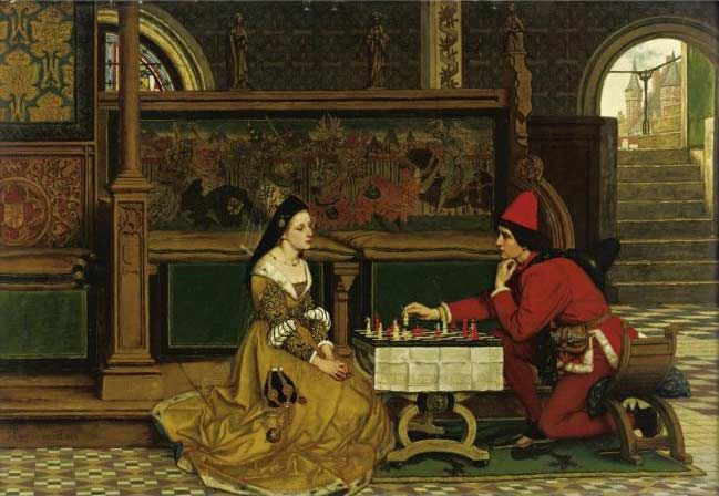 His Move :: Albrecht Frans Lieven Vriendt - Romantic scenes in art and painting ôîòî