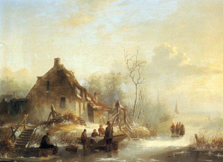 Picnic on a Frozen Lake :: Alexander Joseph Wittevronghel - Landscapes ôîòî
