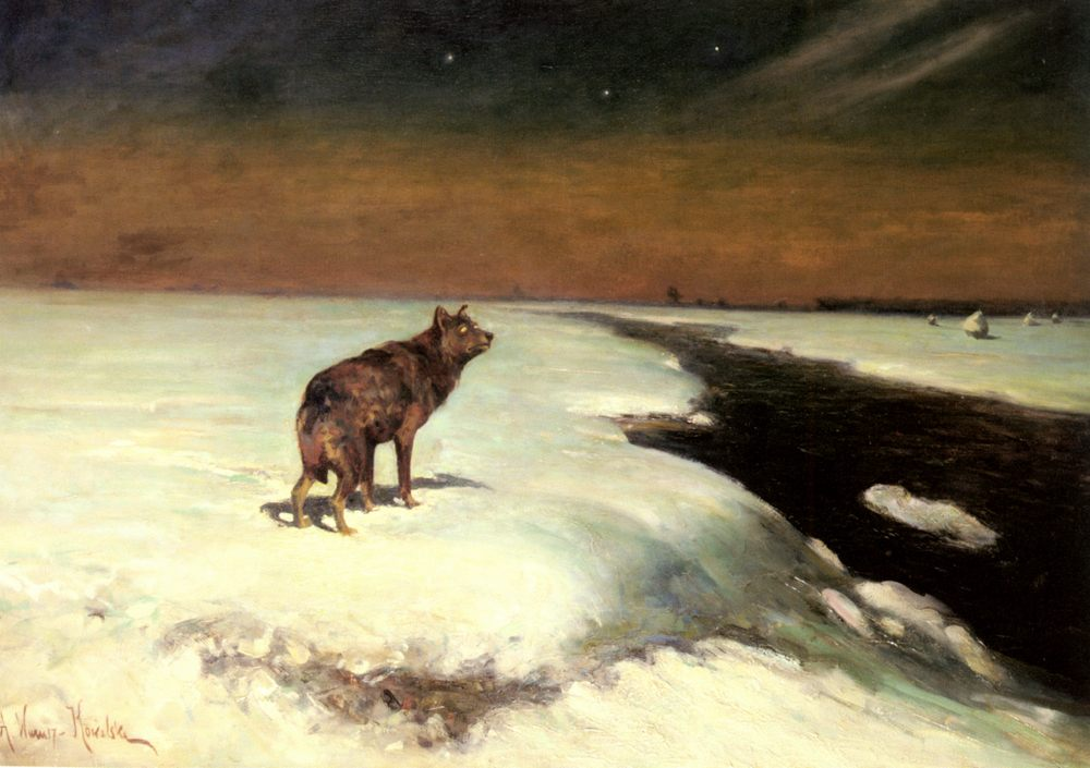 The Wolf :: Alfred von Wierusz-Kowalski - Animals ôîòî