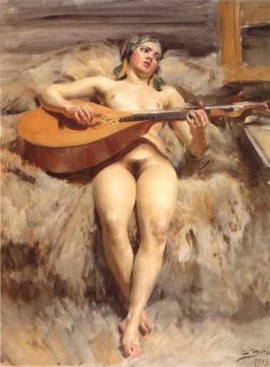 Atelje'idyll  :: Anders Zorn - Nu in art and painting фото