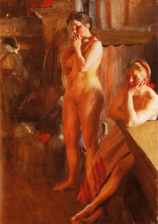 Eldsken :: Anders Zorn  - Nu in art and painting фото
