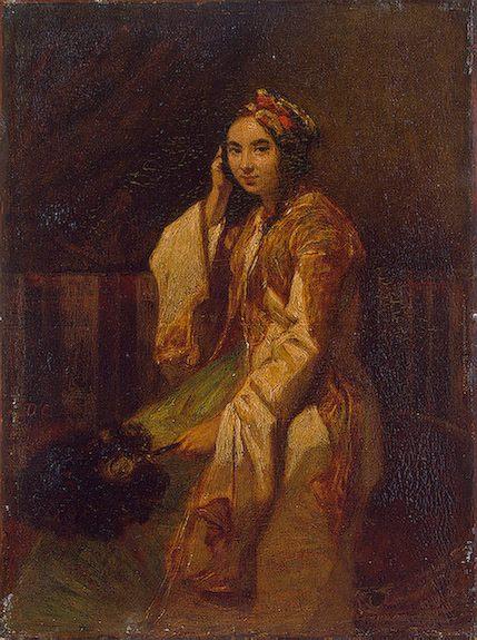 Woman in Oriental Dress :: Alexandre-Gabriel Decamps  - Arab women (Harem Life scenes) in art  and painting ôîòî