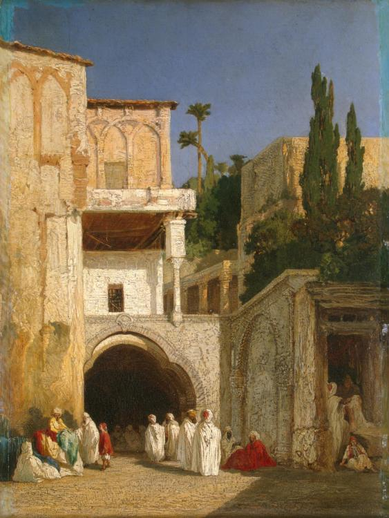 Before a Mosque (Cairo) :: Alexandre-Gabriel Decamps - scenes of Oriental life ( Orientalism) in art and painting ôîòî