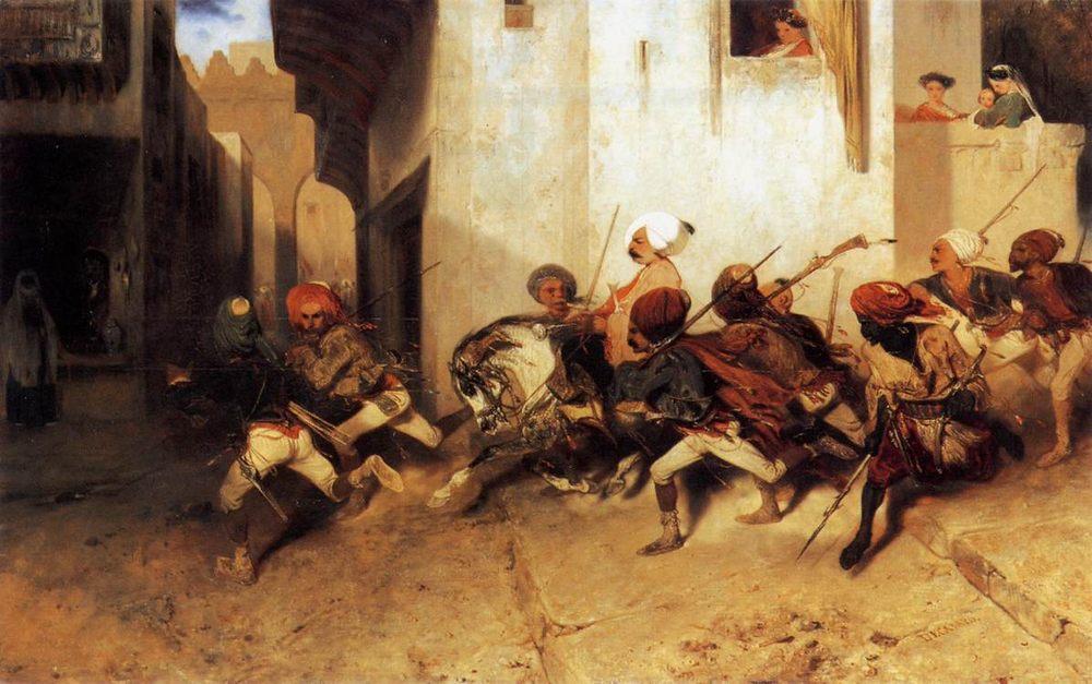 The Turkish Patrol :: Alexandre-Gabriel Decamps - scenes of Oriental life (Orientalism) in art and painting ôîòî