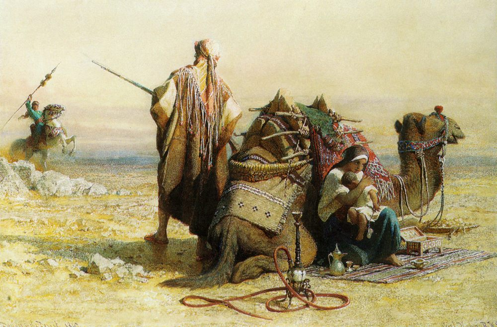 Danger in the Desert :: Carl Haag - scenes of Oriental life ( Orientalism) in art and painting фото