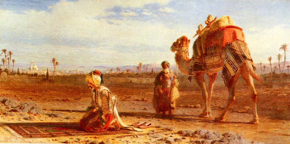 The Prayer :: Carl Haag - scenes of Oriental life ( Orientalism) in art and painting фото