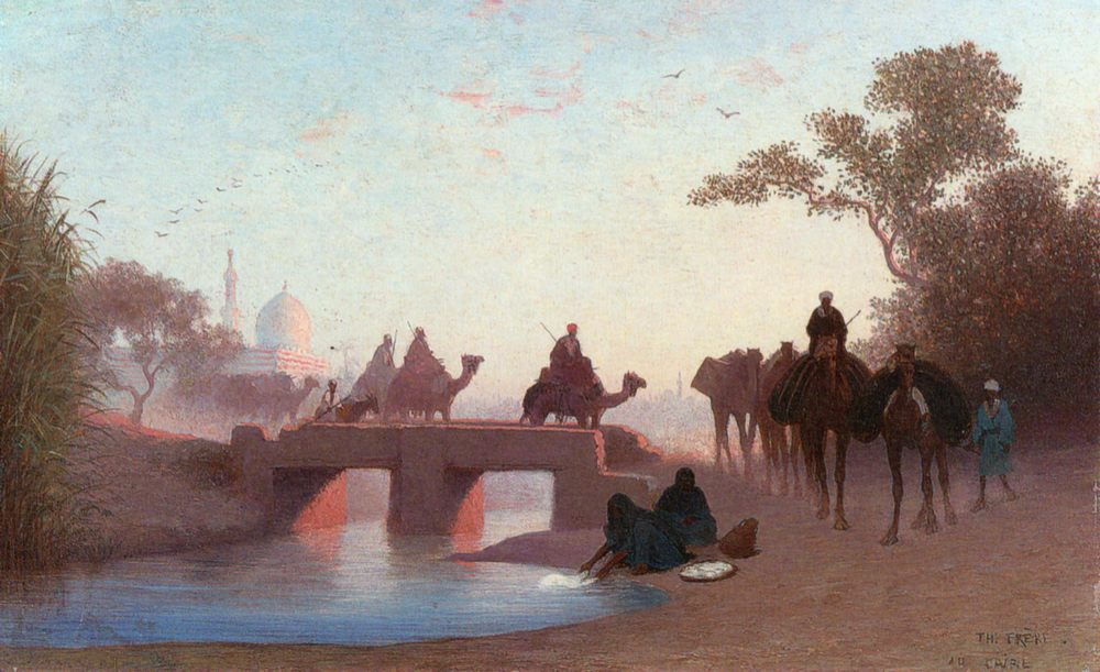 Environs du Caire :: Charles Theodore Frere - scenes of Oriental life ( Orientalism) in art and painting фото