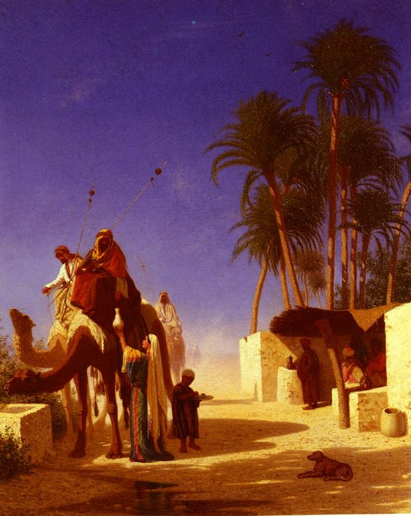 Camel Drivers Drinking from the Wells :: Charles Theodore Frere - scenes of Oriental life ( Orientalism) in art and painting фото