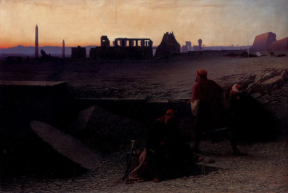 Ruines De Thebes (Haute-Egypte) :: Charles Theodore Frere - scenes of Oriental life ( Orientalism) in art and painting фото