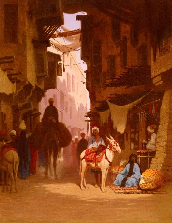 The Souk :: Charles Theodore Frere - scenes of Oriental life ( Orientalism) in art and painting ôîòî