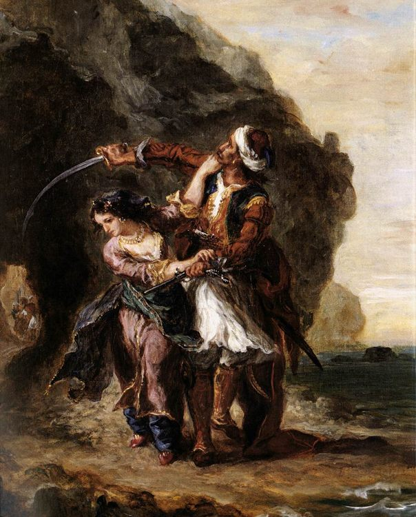 The Bride of Abydos :: Eugиne Delacroix - scenes of Oriental life ( Orientalism) in art and painting ôîòî