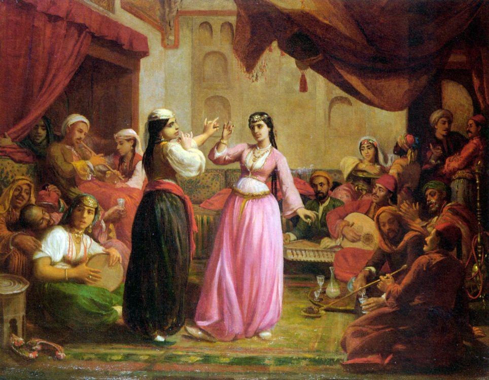 An Evenings Entertainment :: Felix Auguste Clement - scenes of Oriental life ( Orientalism) in art and painting ôîòî