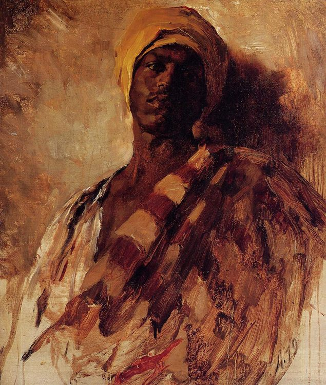 Guard of the Harem (study) :: Frank Duveneck - scenes of Oriental life ( Orientalism) in art and painting фото