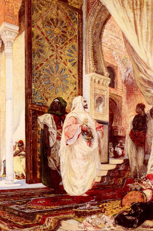 Entering The Harem :: Georges Jules Victor Clairin - scenes of Oriental life ( Orientalism) in art and painting фото