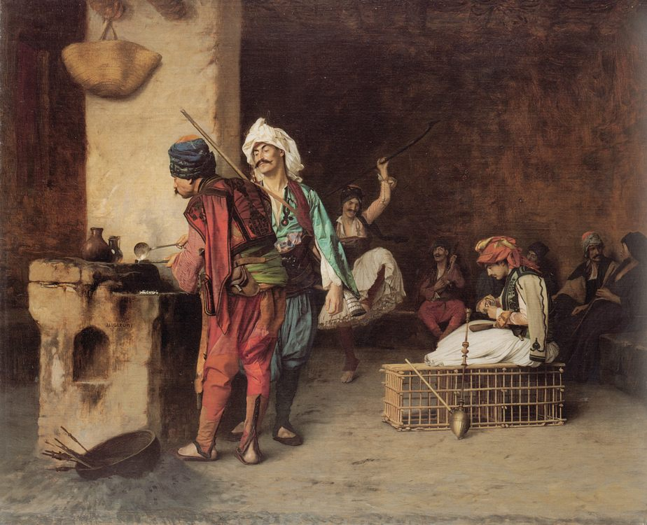A Caf in Cairo :: Jean-Leon Gerome - scenes of Oriental life ( Orientalism) in art and painting фото