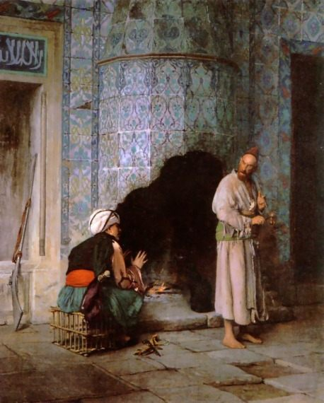 A Chat by the Fireside :: Jean-Leon Gerome - scenes of Oriental life ( Orientalism) in art and painting фото