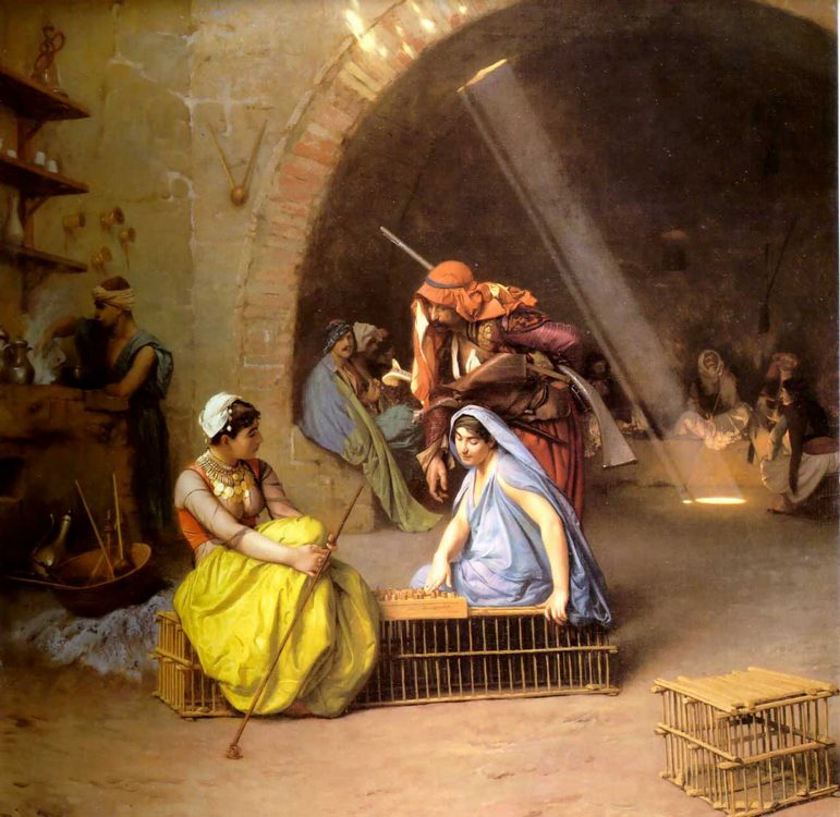 Almehs playing Chess in a Cafi  :: Jean-Leon Gerome - scenes of Oriental life (Orientalism) in art and painting ôîòî