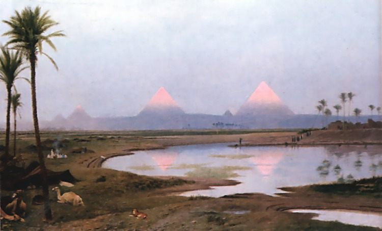 Arab Encampment :: Jean-Leon Gerome - scenes of Oriental life ( Orientalism) in art and painting фото