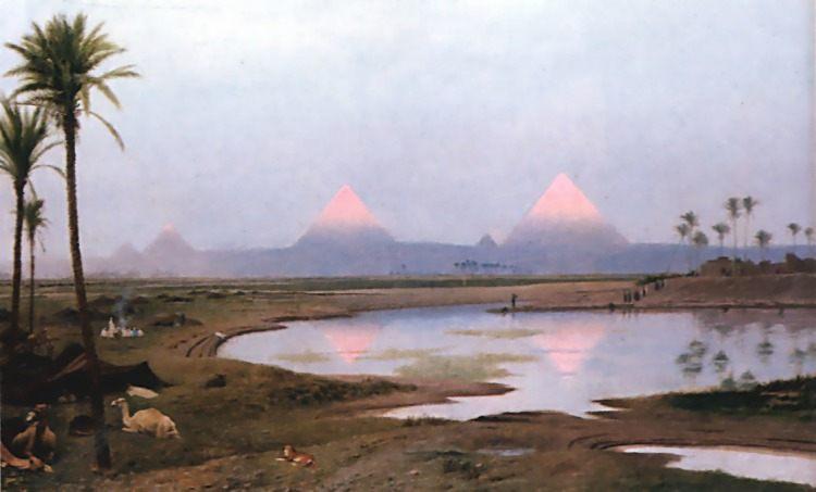 Arab Encampment :: Jean-Leon Gerome - scenes of Oriental life (Orientalism) in art and painting ôîòî