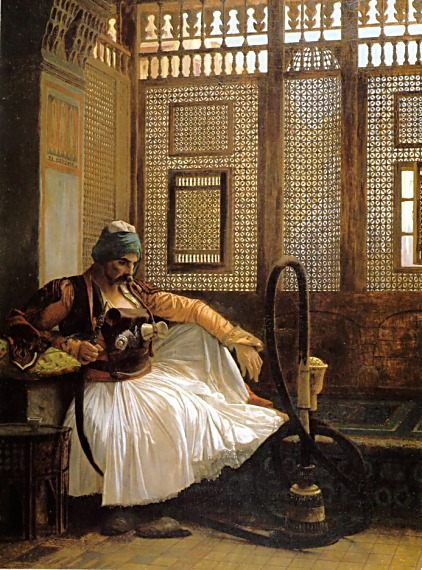 Arnaut Smoking :: Jean-Leon Gerome - scenes of Oriental life ( Orientalism) in art and painting фото