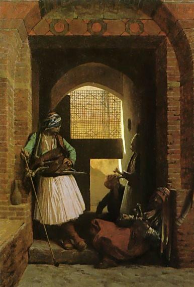 Arnauts of Cairo at the Beb en-Nasr :: Jean-Leon Gerome - scenes of Oriental life ( Orientalism) in art and painting ôîòî