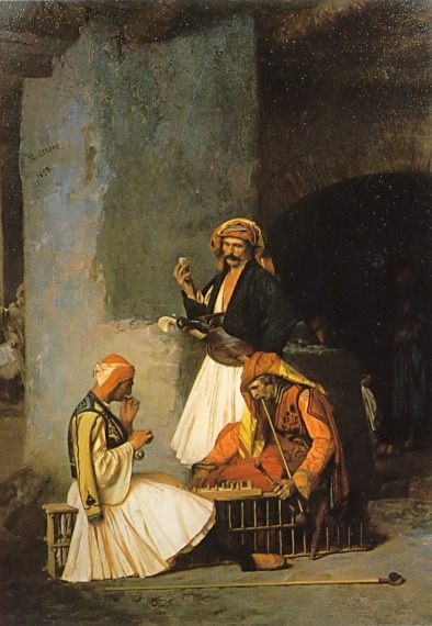 Arnauts playing Chess :: Jean-Leon Gerome - scenes of Oriental life ( Orientalism) in art and painting фото
