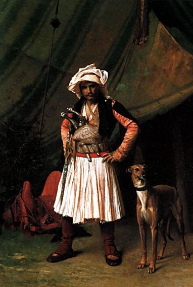 Bashi-Bazouk and his Dog :: Jean-Leon Gerome - scenes of Oriental life ( Orientalism) in art and painting фото