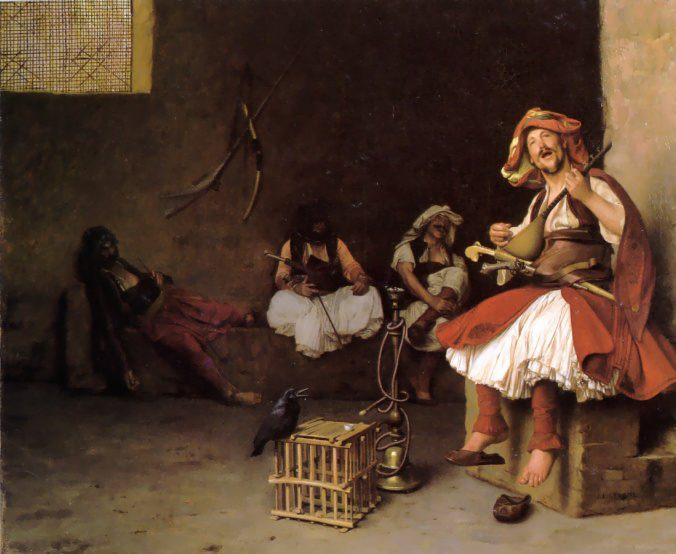 Bashi-Bazouk Singing :: Jean-Leon Gerome - scenes of Oriental life ( Orientalism) in art and painting фото