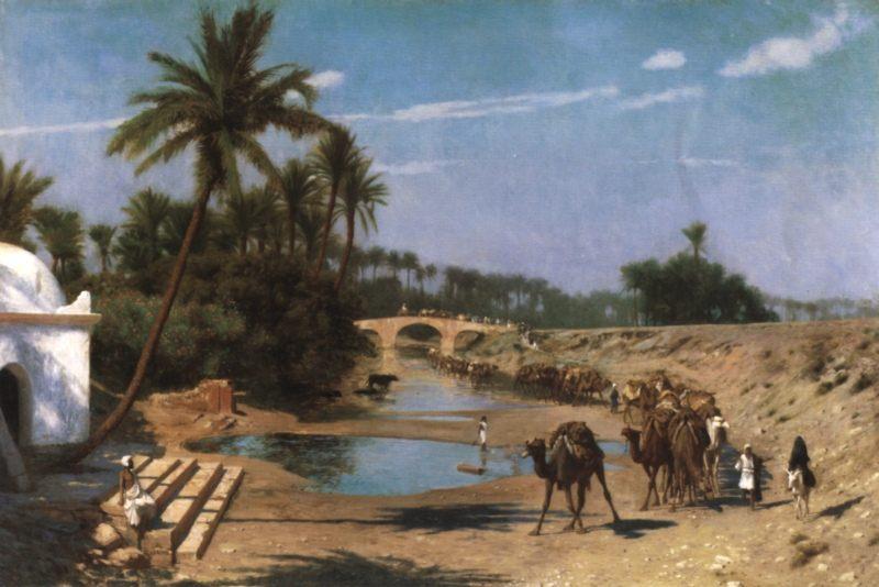 Caravan :: Jean-Leon Gerome - scenes of Oriental life (Orientalism) in art and painting ôîòî