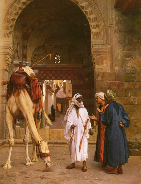 Arabs Arguing :: Jean-Leon Gerome - scenes of Oriental life ( Orientalism) in art and painting фото
