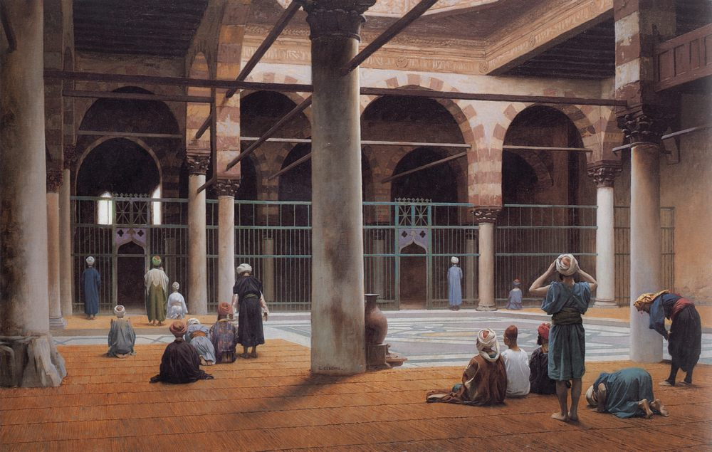 Interior of a Mosque :: Jean-Leon Gerome - scenes of Oriental life (Orientalism) in art and painting ôîòî
