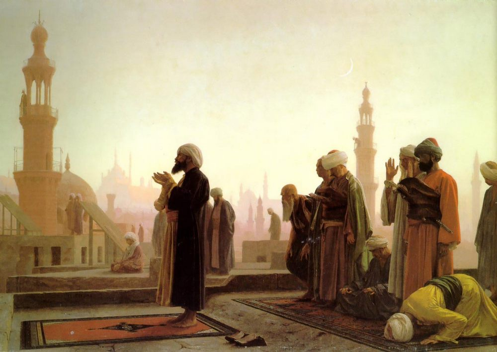Prayer in Cairo :: Jean-Leon Gerome - scenes of Oriental life ( Orientalism) in art and painting фото