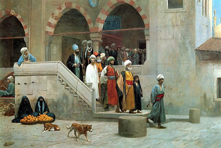 Leaving the Mosque :: Jean-Leon Gerome - scenes of Oriental life (Orientalism) in art and painting ôîòî