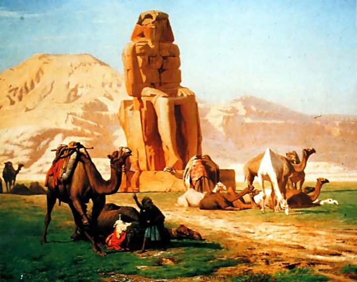 Memnon and Sesostris :: Jean-Leon Gerome - scenes of Oriental life ( Orientalism) in art and painting фото