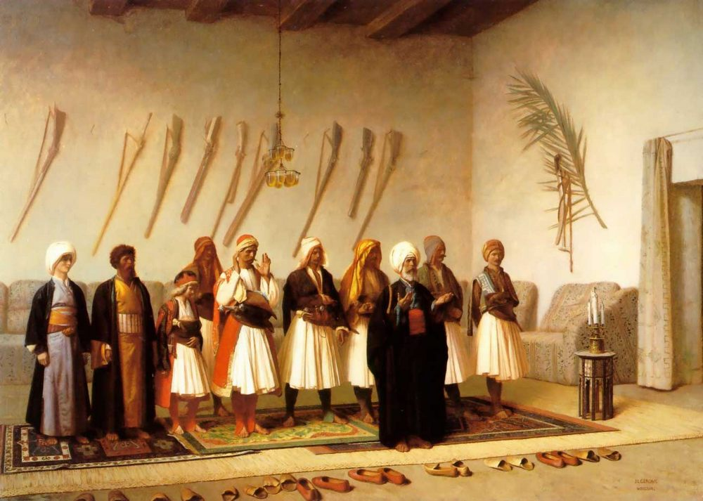 Prayer in the House of an Arnaut Chief :: Jean-Leon Gerome - scenes of Oriental life ( Orientalism) in art and painting фото