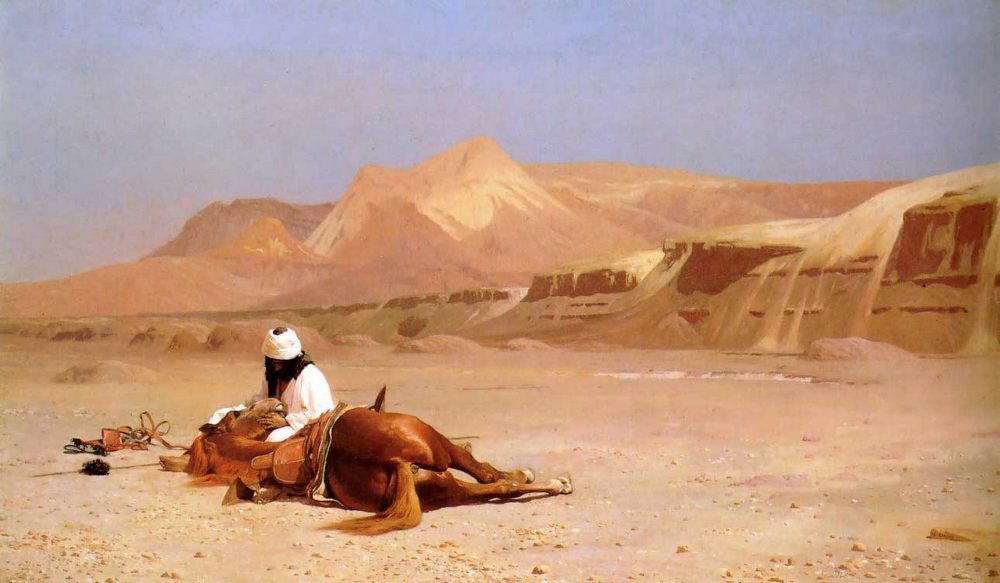 The Arab and his Steed :: Jean-Leon Gerome - scenes of Oriental life ( Orientalism) in art and painting ôîòî