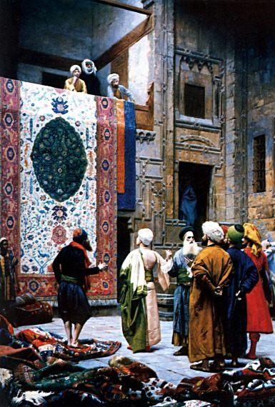 The Carpet Merchant :: Jean-Leon Gerome  - scenes of Oriental life (Orientalism) in art and painting ôîòî