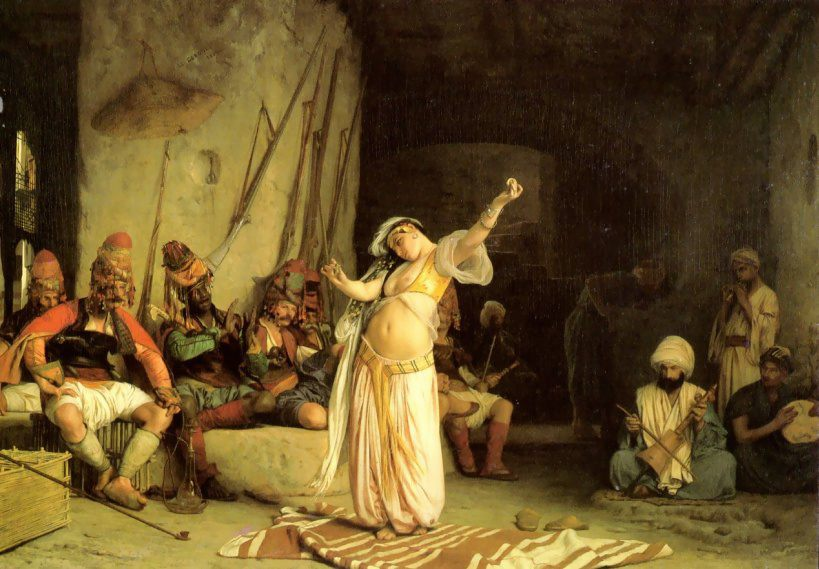 The Dance of the Almeh :: Jean-Leon Gerome - scenes of Oriental life (Orientalism) in art and painting ôîòî