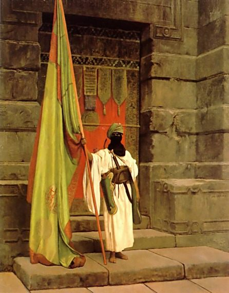 The Standard Bearer :: Jean-Leon Gerome - scenes of Oriental life ( Orientalism) in art and painting фото