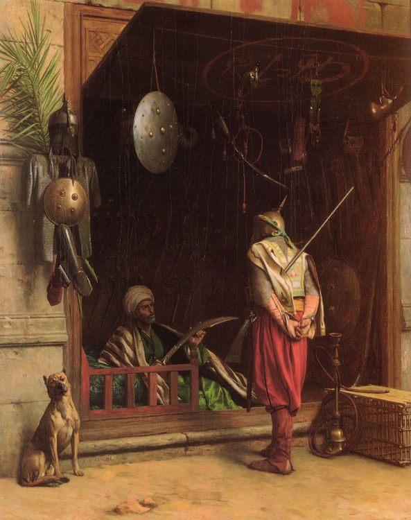 A Cairene Amorer :: Jean-Leon Gerome - scenes of Oriental life ( Orientalism) in art and painting фото